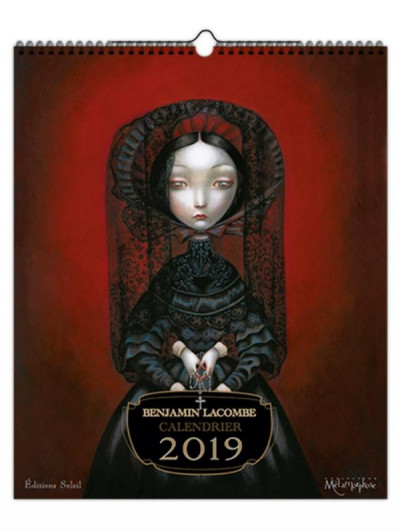 Couverture Benjamin Lacombe - calendrier 2019