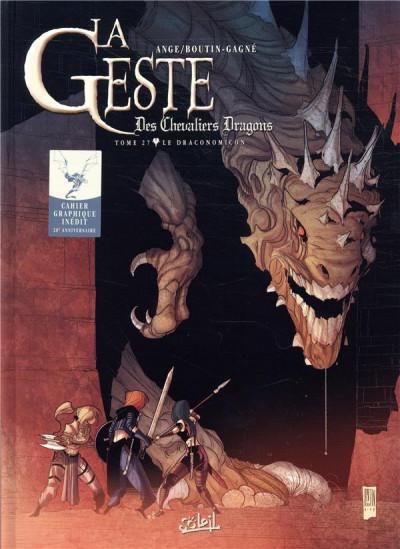 Couverture La geste des chevaliers dragons tome 27 + ex-libris offert