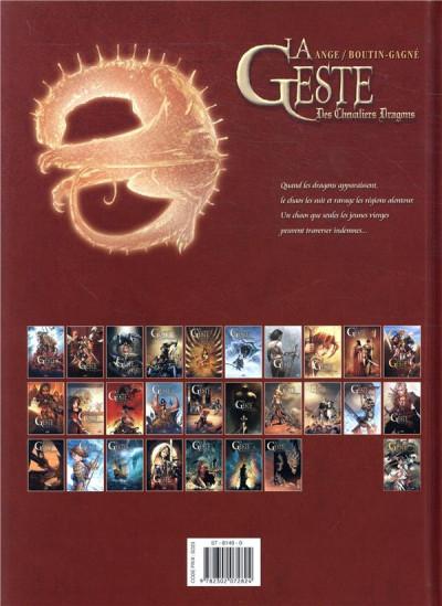 Dos La geste des chevaliers dragons tome 27 + ex-libris offert