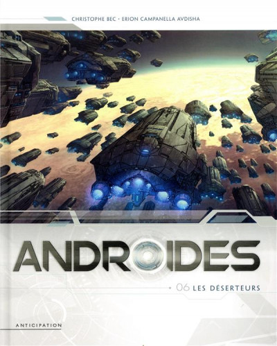 Couverture Androïdes tome 6 + ex-libris offert