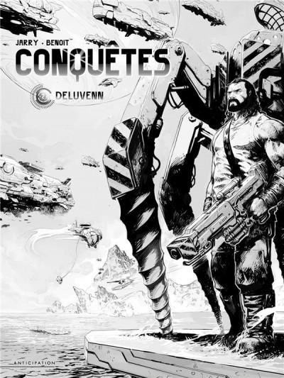 Couverture Conquêtes tome 2 - édition n&b