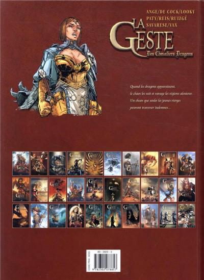 Dos La geste des chevaliers dragons tome 29