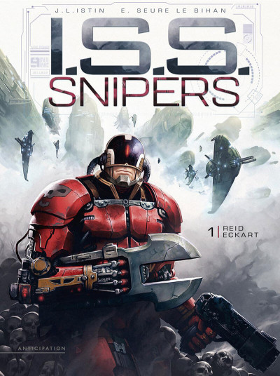 Couverture I.S.S. snipers tome 1 + ex-libris offert