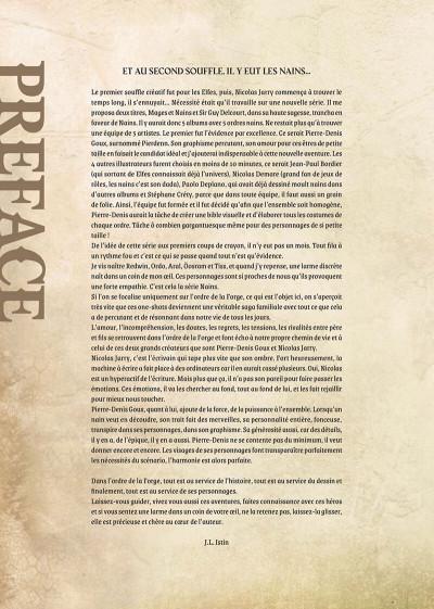Page 2 Nains - intégrale - L'ordre de la forge
