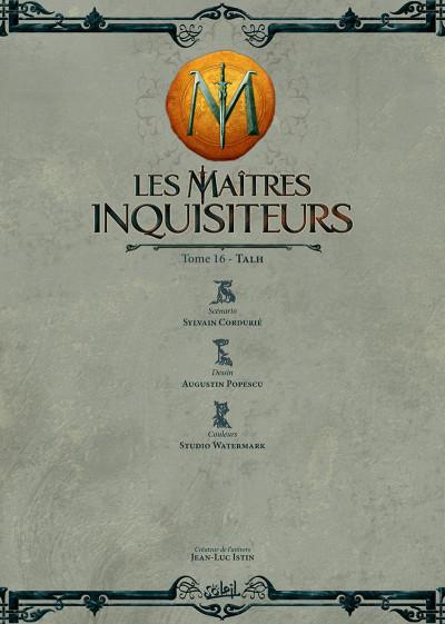 Page 1 Les maîtres inquisiteurs tome 16 + ex-libris offert