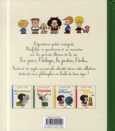 Dos la petite philo de Mafalda - l'injustice