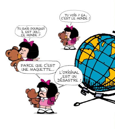 Page 1 la petite philo de Mafalda - l'injustice