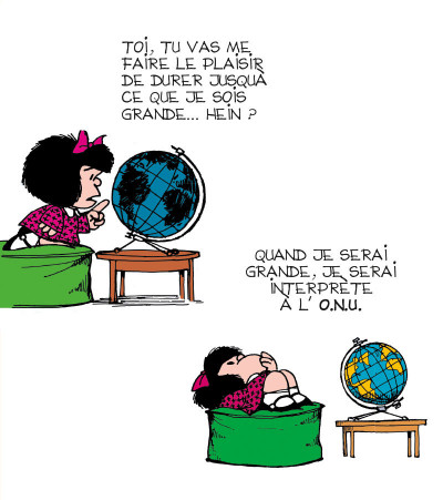 Page 4 la petite philo de Mafalda - l'injustice