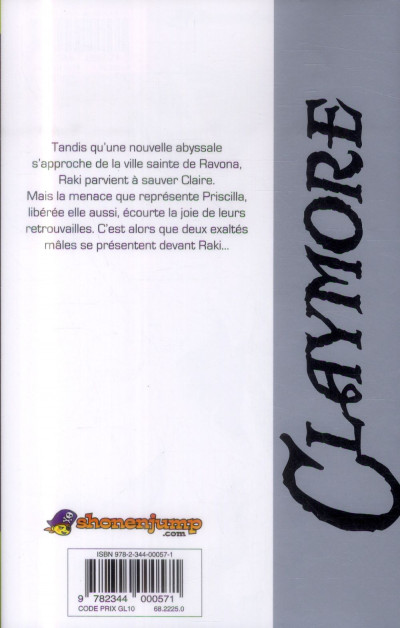 Dos Claymore tome 24