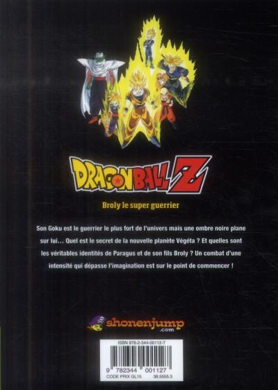 Dos dragon ball Z - animé comics - les films tome 8 - broly le super guerrier