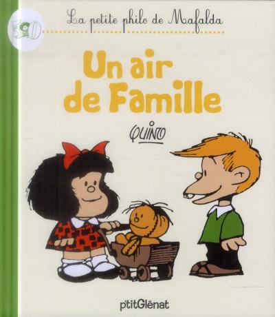 Couverture la petite philo de mafalda - un air de famille