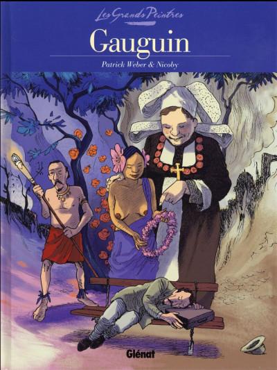 image de Les grands peintres : Paul Gauguin - Portrait de l'artiste au Christ jaune