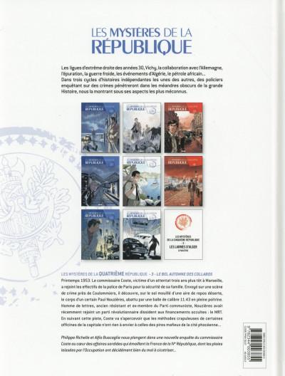 Dos Les mystères de la quatrième République tome 3 - Le Bel automne des collabos