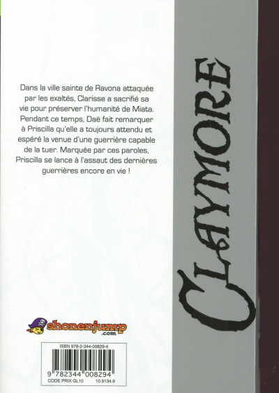 Dos Claymore tome 26