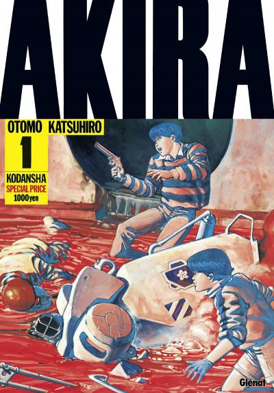 Couverture Akira en noir et blanc tome 1 - édition 2016