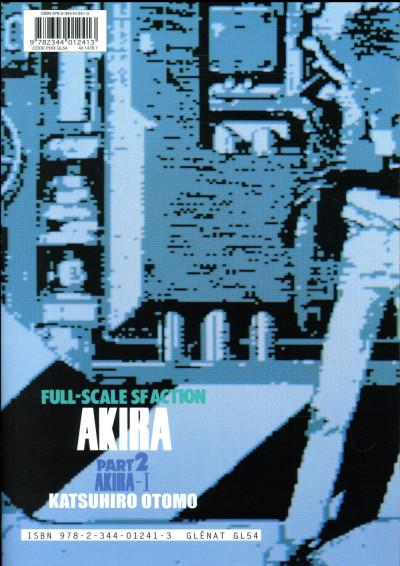 Dos Akira en noir et blanc tome 2 - édition 2017