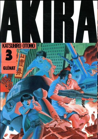 Couverture Akira en noir et blanc tome 3 - édition 2018