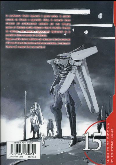 Dos Knights of sidonia tome 15