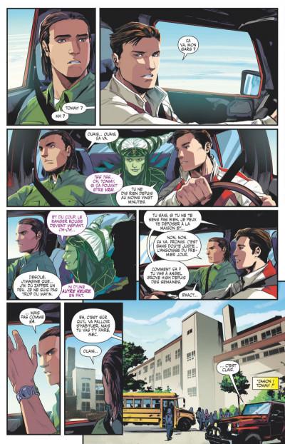 Page 2 Power Rangers tome 1 - Ranger vert, année un