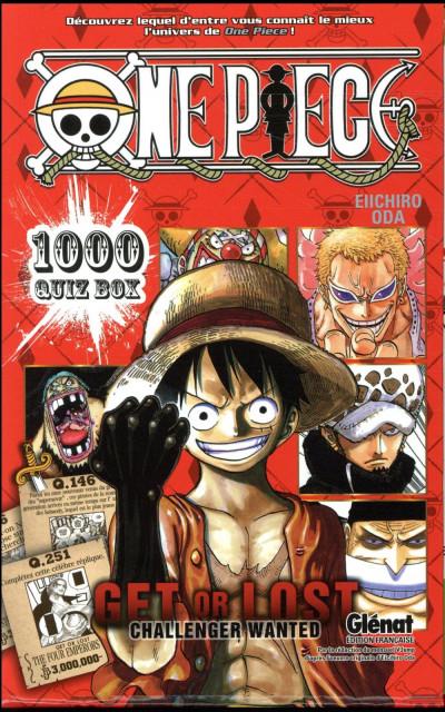 Couverture One Piece - coffret - quiz book tomes 1 et 2