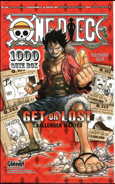 Dos One Piece - coffret - quiz book tomes 1 et 2