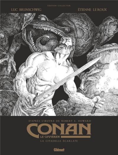 Couverture Conan le Cimmérien - La citadelle écarlate (édition noir et blanc)