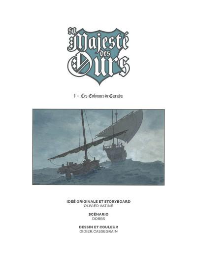 Page 2 Sa majesté des ours tome 1