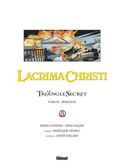 Page 4 Le triangle secret - Lacrima christi tome 6