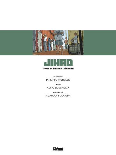 Page 4 Affaires d'état - Jihad tome 1