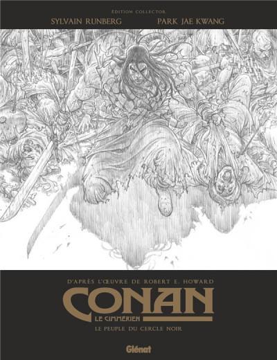 Couverture Conan le Cimmérien - Le peuple du cercle noir (éd. noir et blanc) + ex-libris offert