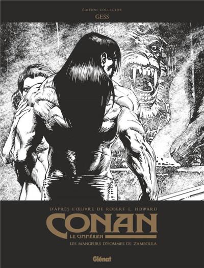Couverture Conan le Cimmérien - Les mangeurs d'hommes de Zamboula (éd. noir et blanc)