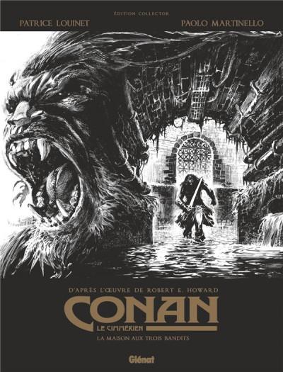 Couverture Conan le cimmérien - La maison aux trois bandits (édition noir & blanc)