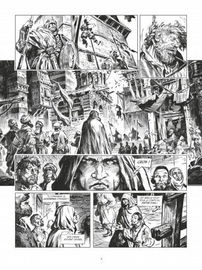 Page 4 Conan le cimmérien - La maison aux trois bandits (édition noir & blanc)