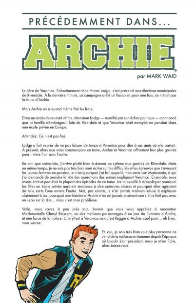 Page 4 Riverdale présente Archie tome 3