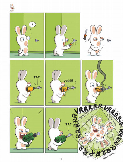 Page 9 The lapins crétins tome 13