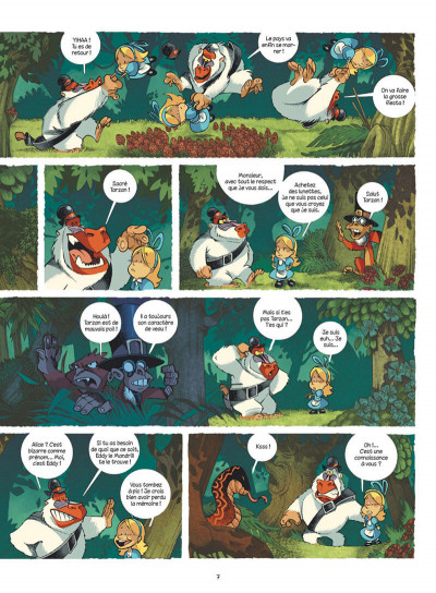 Page 7 Alice au pays des singes - intégrale