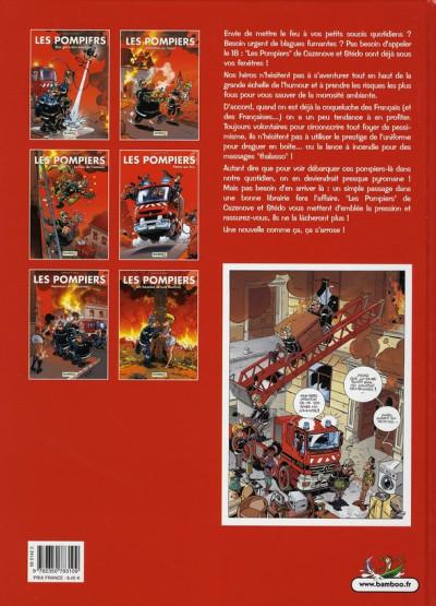 Dos les pompiers tome 6 - un homme et une flamme