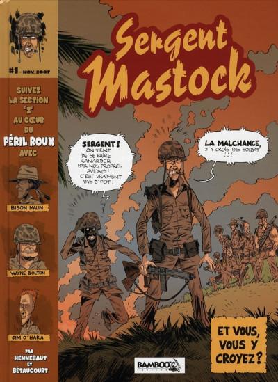 Couverture sergent mastock tome 1 - le péril roux