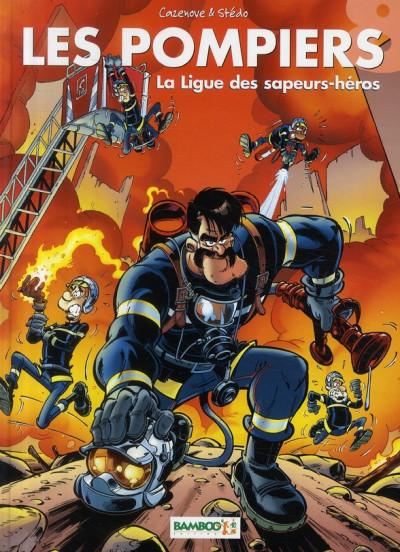 image de les pompiers tome 8 - la ligue des sapeurs-héros