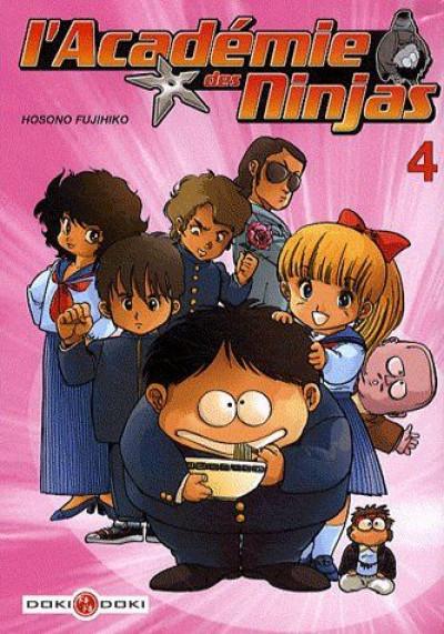 Couverture l'académie des ninjas tome 4