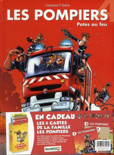 Couverture les pompiers tome 4 - jeu des familles bamboo