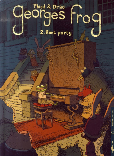 Couverture georges frog tome 2 - rent party