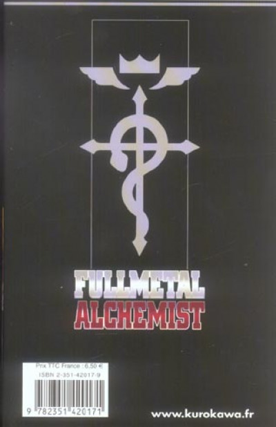 Dos fullmetal alchemist tome 1