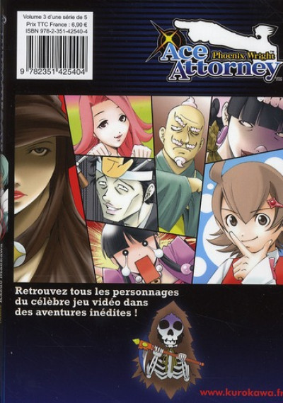 Dos ace attorney - Phoenix Wright tome 3