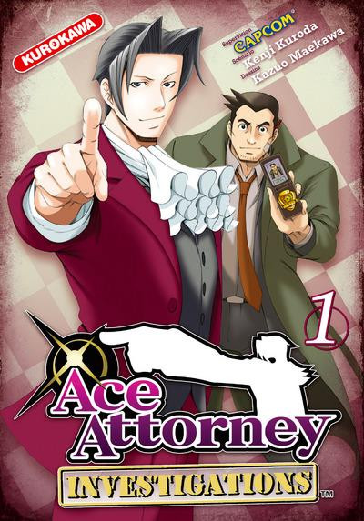 Couverture ace attorney - investigations tome 1