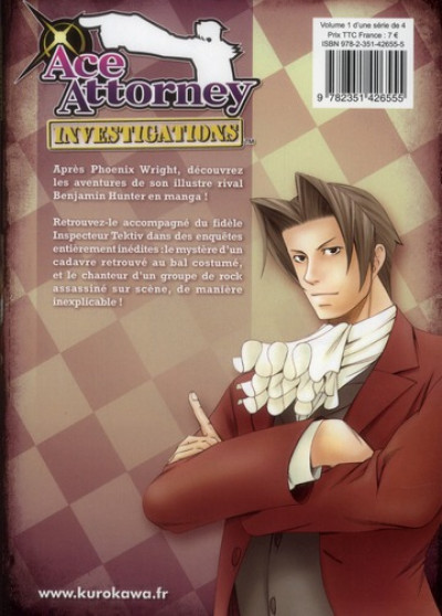 Dos ace attorney - investigations tome 1