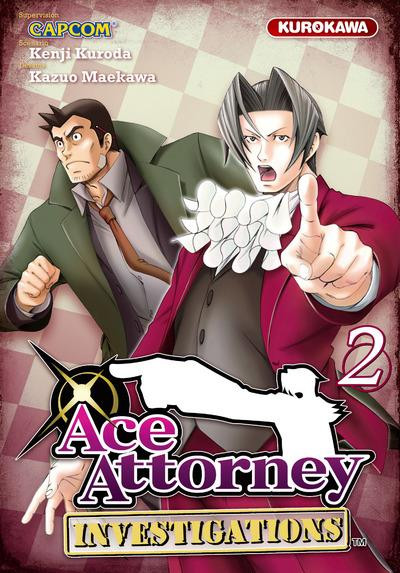 Couverture ace attorney - investigations tome 2