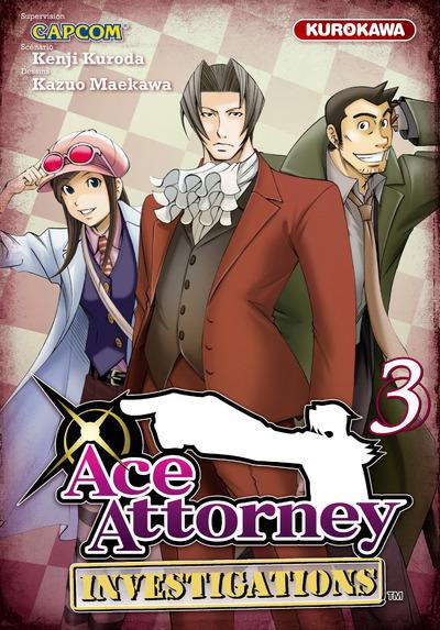 Couverture Ace attorney - investigations tome 3