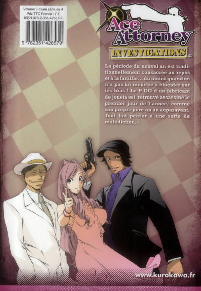 Dos Ace attorney - investigations tome 3
