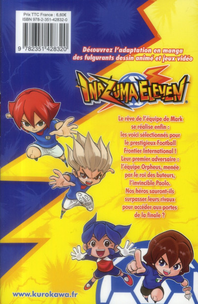 Dos Inazuma eleven tome 10